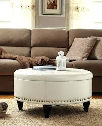 round ottoman coffee table desk and table white leather round storage ottoman coffee table cool round