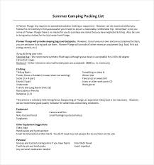 24 Packing List Templates Pdf Doc Excel Free Premium Templates