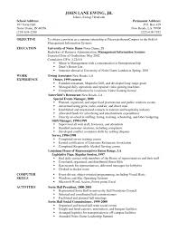 Restaurant Resume Skills Skill Resume Sample Computer Skills Sample Resume For Food Service Crew Objective For