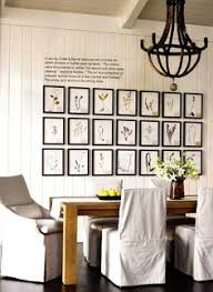 botanical gallery wall symmetry the modern farm table linen slip cover dining chairs