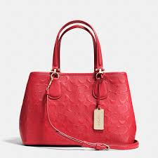 Where To Get Cheap Designer Bags Small Kitt Carryall In Logo Embossed Leather Coach Purses
