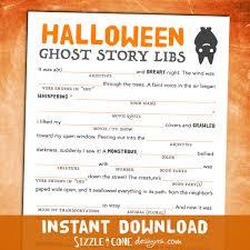 scary halloween mad lib for adults teens kids ghost story scary halloween mad lib for adults teens kids ghost story printable h101