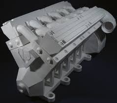 papercraft v8 engine diagram wiring library v12 engine paper model gallery