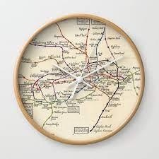 london underground 1923 wall clock