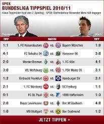 Bundesliga im liveticker mitverfolgen, zudem kommen sie hier direkt zur tabelle der 2.bundesliga. Spox Bundesliga Tippspiel Der 2 Spieltag