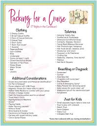 Cruise Packing List Packing List Archives A Joyful Jaunt
