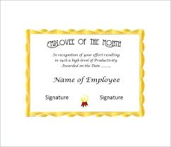 Employee Of The Year Certificate Template Free Employee Of The Year Certificate Free Template Design