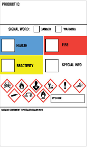 Ghs Secondary Container Labels
