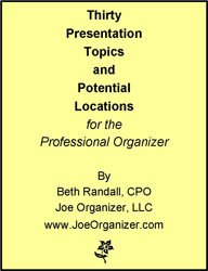 presentation topics beth randall joe organizer professional  presentation topics