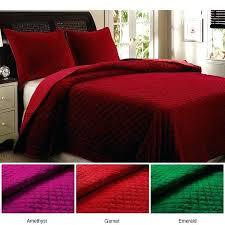 king size velvet quilt home fashions bohemian velvet king size 3 piece quilt set crushed velvet