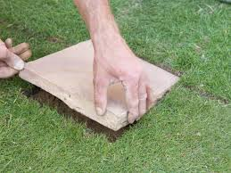 Diy Sod How To Lay Stepping Stones How Tos Diy