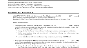 Sap Basis Consultant Sample Resume Sap Basis Resume Ninjaturtletechrepairsco 21