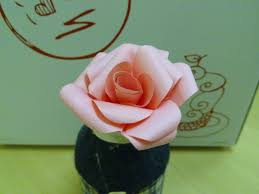 Rose Flower With Paper Paper Rose Flower Tutorial