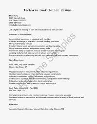 Resume Objective For A Bank Teller Resume Online Builder
