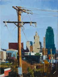 patrick saunders fine arts cityscape painting oil on canvas obstructed view kansas