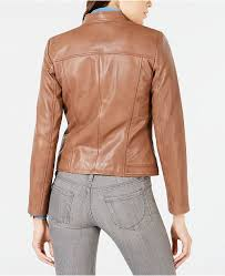 Cole Haan Jacket Size Chart Seamed Leather Jacket