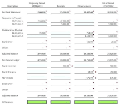 Bank Reconciliation Template Cash Book And Bank Reconciliation Template Sample 3633
