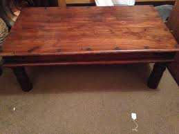 ... Coffee Table, Exciting Brown Rectangle Ancient Wood Solid Wood Coffee  Table Idea: Elegant Solid