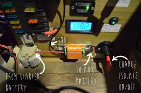 campervan 12v electrical system installation and wiring Leisure Battery Wiring Diagram i used some more terminals to let me quickly wire in my leisure battery just incase the start battery becomes flat motorhome leisure battery wiring diagram