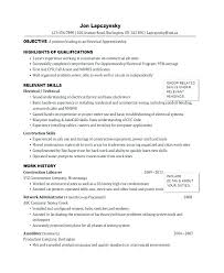 Journeyman Electrician Resume Sample Electrician Resume Template