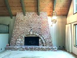 replace brick fireplace with stone replace brick fireplace replace rh ariyes info cost to reface brick fireplace with stone veneer