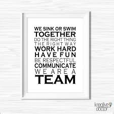 Teamwork Quotes Funny Classy Office Wall Art Printable Teamwork Quotes Office Success Etsy