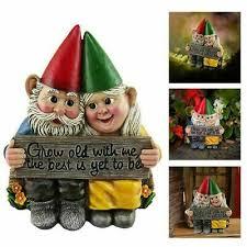 fairy garden gnome statue couple in