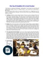 essay qualities of a good teacher teaching method teachers qualities of a good teacher