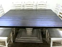 large square dining table custom made square farmhouse table with pedestal