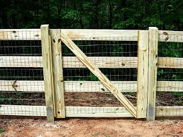 48 Inch Fence Gate 4 Board Fence Gate With Welded Wire Attached