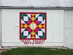 Quilt Patterns For Barn Art Delectable Miami County Ohio Barn Quilts Wrap Region In Warmth Of Art