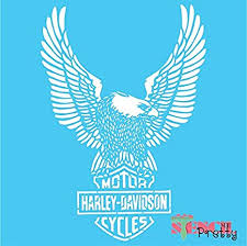 Simply pick a design to make your own eagle logo in mins! Amazon Com Stencil Classic Harley Davidson Shield Eagle For The Diy Biker Best Vinyl Large Stencils For Painting On Wood Canvas Wall Etc Mega 18 X 26 Brilliant Blue Color Material