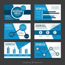 business presentation templates template of business presentation in blue tones vector free download