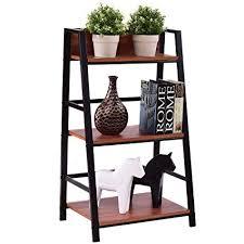 office corner shelf. TANGKULA 3-Tier Ladder Shelf Home Office Bookshelf Plant Display Stand  Storage Shelves Multipurpose Corner Office Corner Shelf L