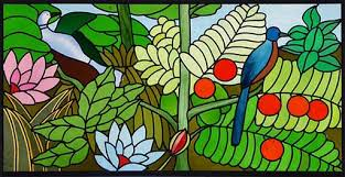 stained glass window based on rousseau s