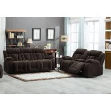 Brown sofa sets Furniture Esofastore Unique Stylish Beautiful Motion Recliners 2pc Sofa Set Sofa Loveseat Console Dark Brown Owensboro Ky Furniture Store Sofas Couches Sears