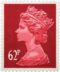 62p stamp rug stamp wall hanging