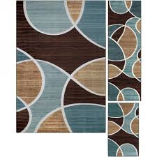 home interior special 4 piece area rug sets living room ideas rectangle brown green multi