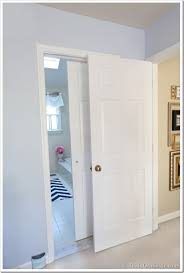 ... Impressive Sliding Doors For Bathroom Entrance Bathroom Gets A Makeover  Using Rolling Door Hardware ...