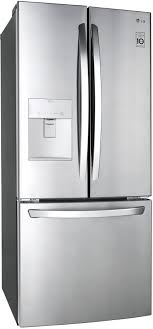 30 inch french door refrigerator. LG LFDS22520S - Front View Angle 30 Inch French Door Refrigerator O
