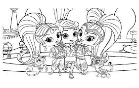 Shimmer And Shine Printable Coloring Pages Johnrozumartcom