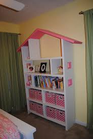 Kids Room Splendid Tight Dollhouse Bookshelves Kids In Pink And Bright  Models With Storages For Baby