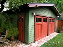 garage barn doorsCraftsman revival garage with barn doors  Nott  Associates