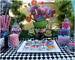 Alice In Wonderland Decoration Alice In Wonderland Mad Tea Party Candy Buffet Birthday Party