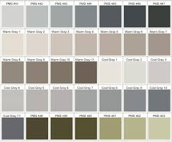 Pantone Cool Gray Color Chart Best Picture Of Chart