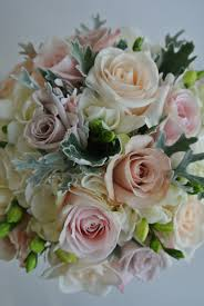 quicksand roses menta roses vendela roses sweet avalanche roses freesia dusty bride bouquetsdusty