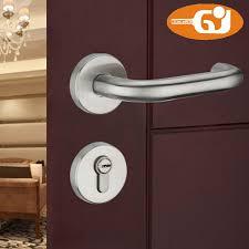 stainless steel lever door handle lock on rose for interior wooden door in locks from home improvement on aliexpress alibaba group