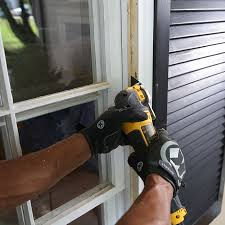 if installing a window from the outside remove the existing exterior stops and the upper