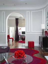 gray and red living room interior design. living room red color decor ideas gray and interior design