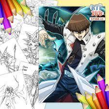 Mô hình giấy Tranh tô màu Yu-Gi-Oh! TTM-0030 - Kit168 Shop mô hình giấy